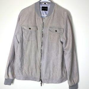 Ease corduroy bomber jacket gray Large